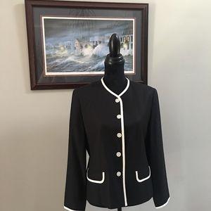 Talbots Petites Black and White jacket size 10